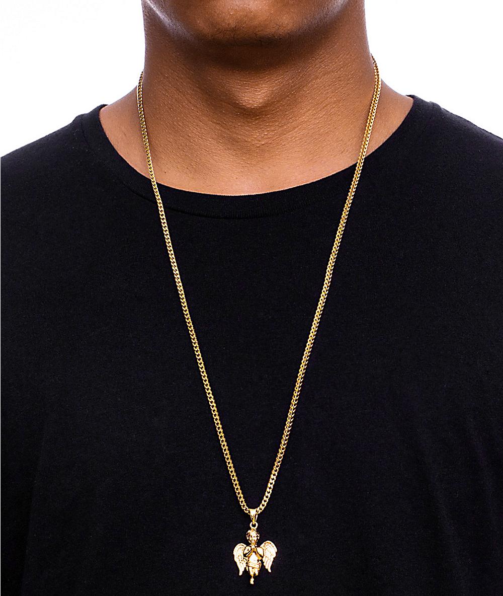 df014225d0c6e The Gold Gods Fallen Angel Necklace