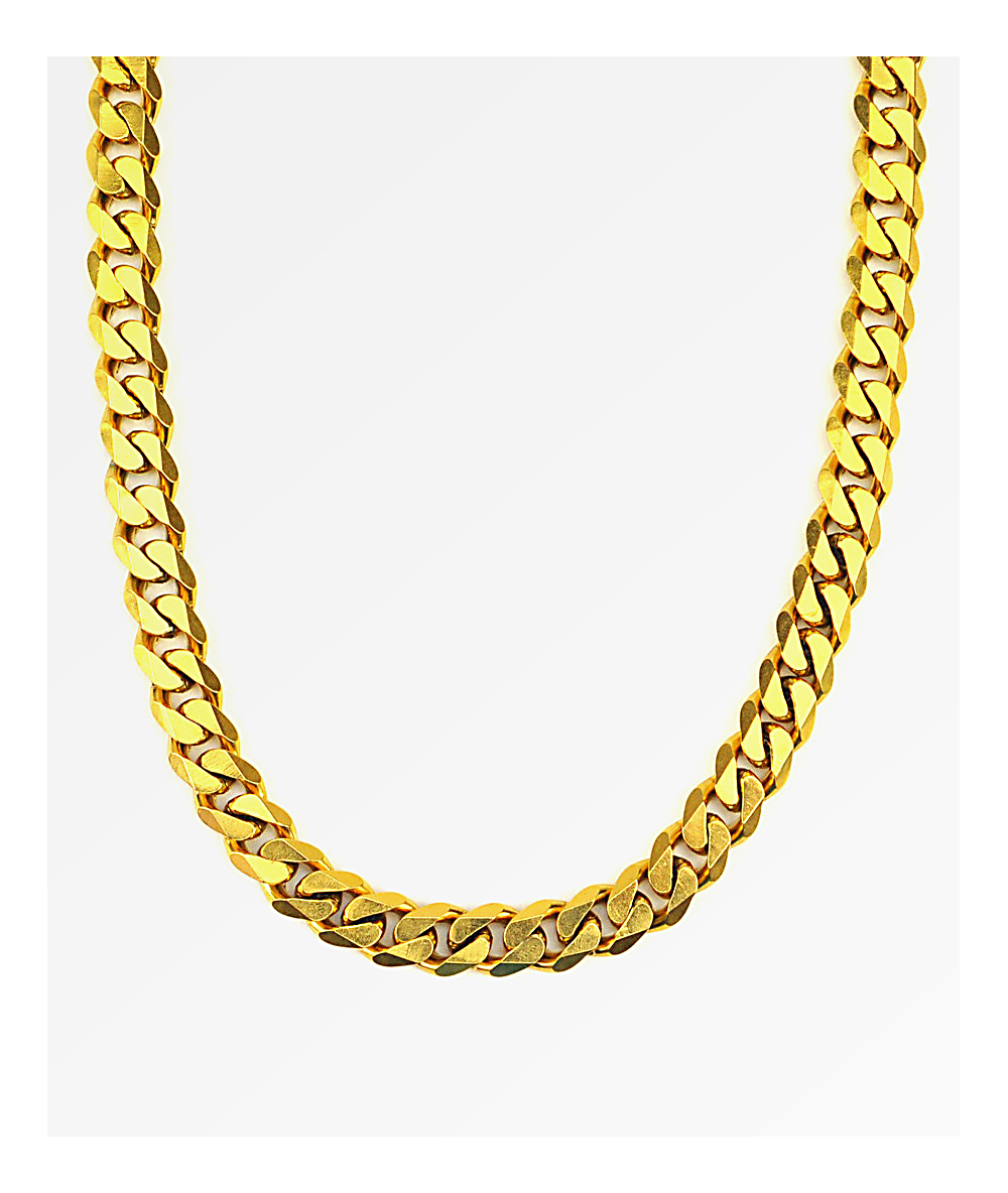 Cuban Link Chain For Sale >> The Gold Gods Flat Edge 30 Cuban Link Necklace