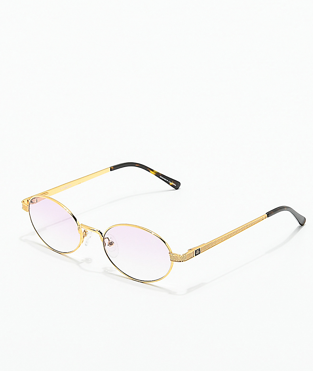 327f4977a The Gold Gods The Ares Gold & Pink Gradient Sunglasses   Zumiez