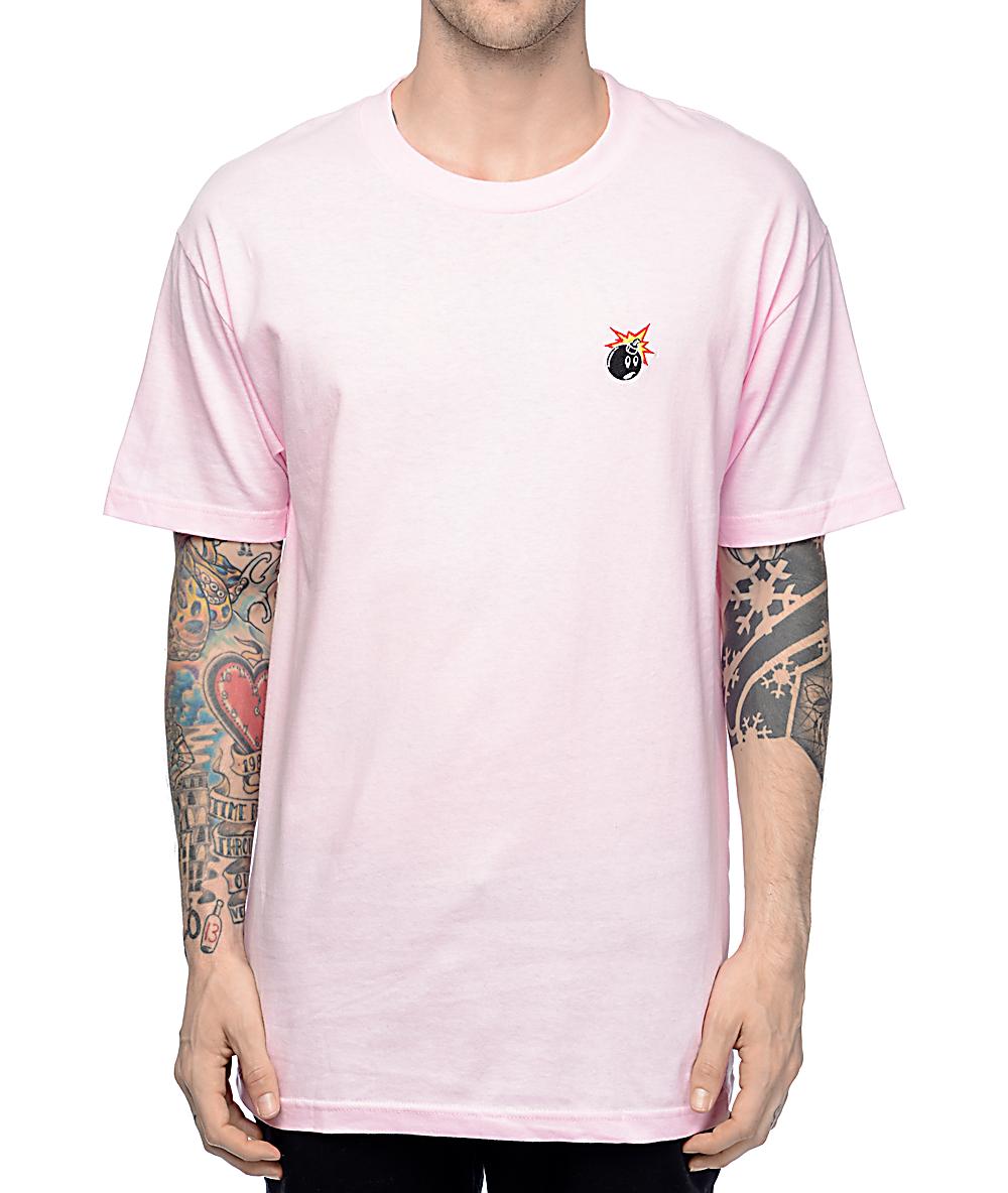 75d5a43e78bc The Hundreds Crest Adam Pink T-Shirt | Zumiez