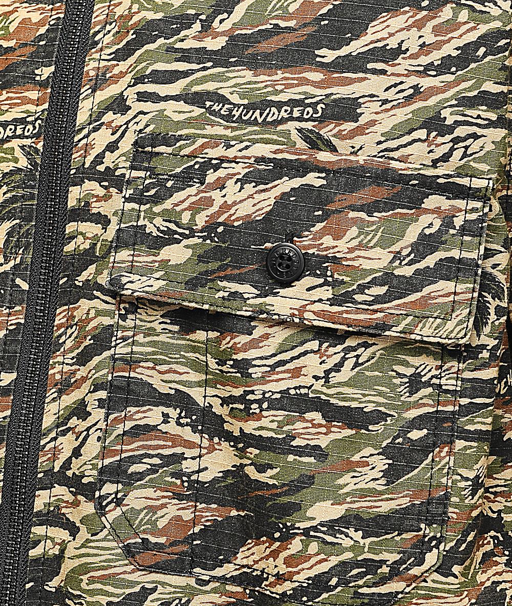 0836ce63f6a00 The Hundreds Guerrero Camo Woven Jacket | Zumiez