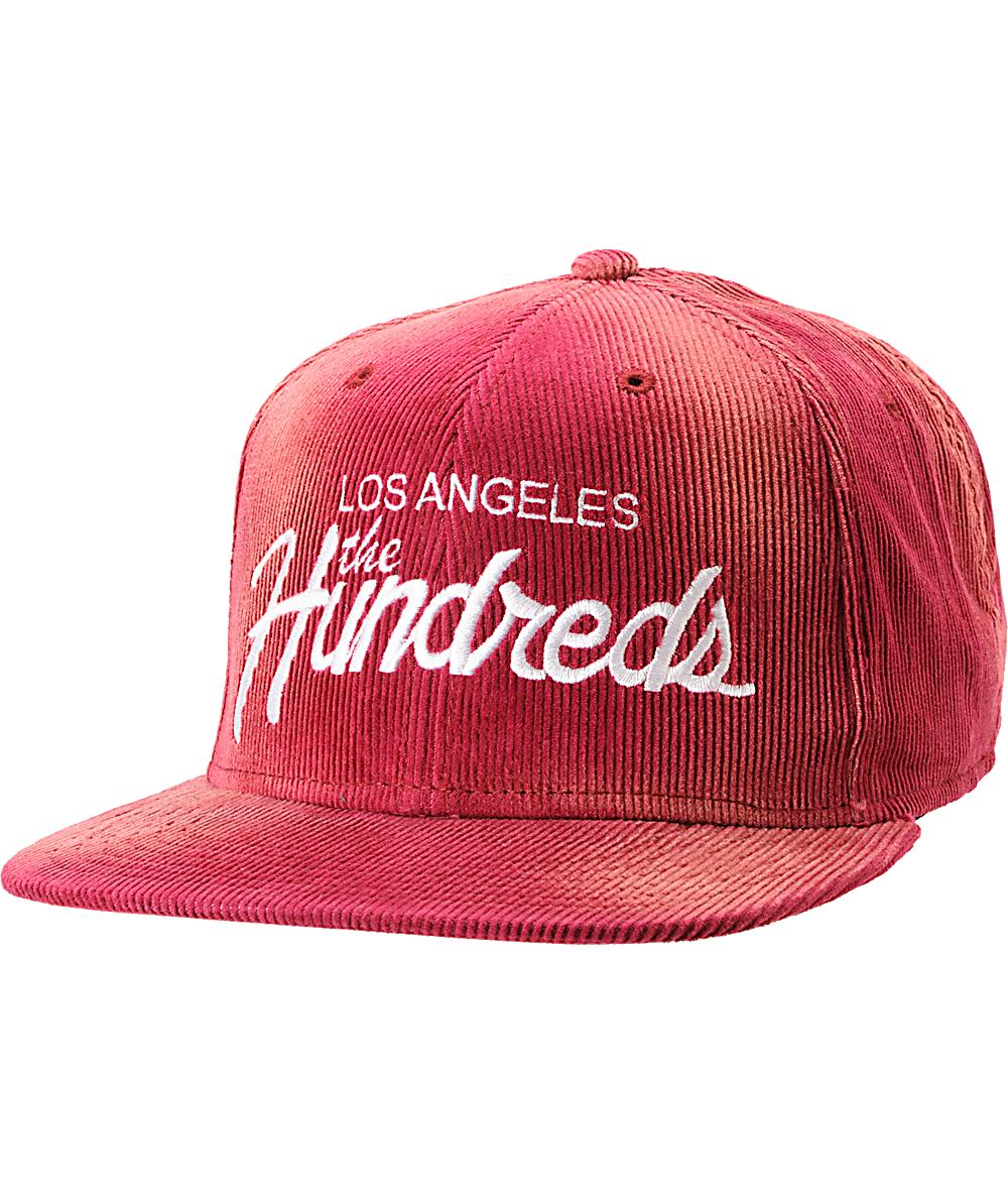 ff08dbc7f9f6c8 The Hundreds Team Maroon Corduroy Snapback Hat | Zumiez