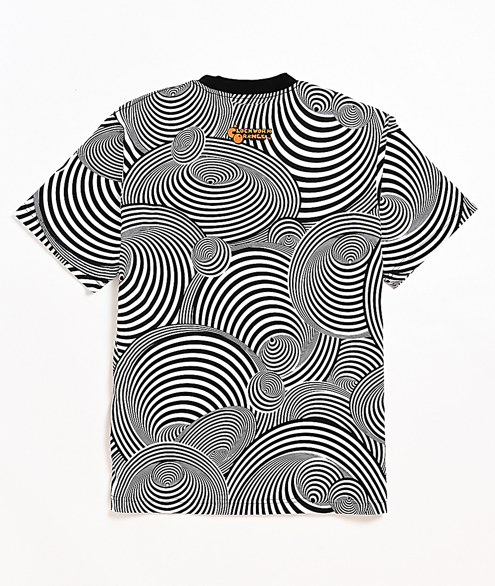 The Hundreds x Stanley Kubrick Delinquent Black & White Striped Knit T-Shirt