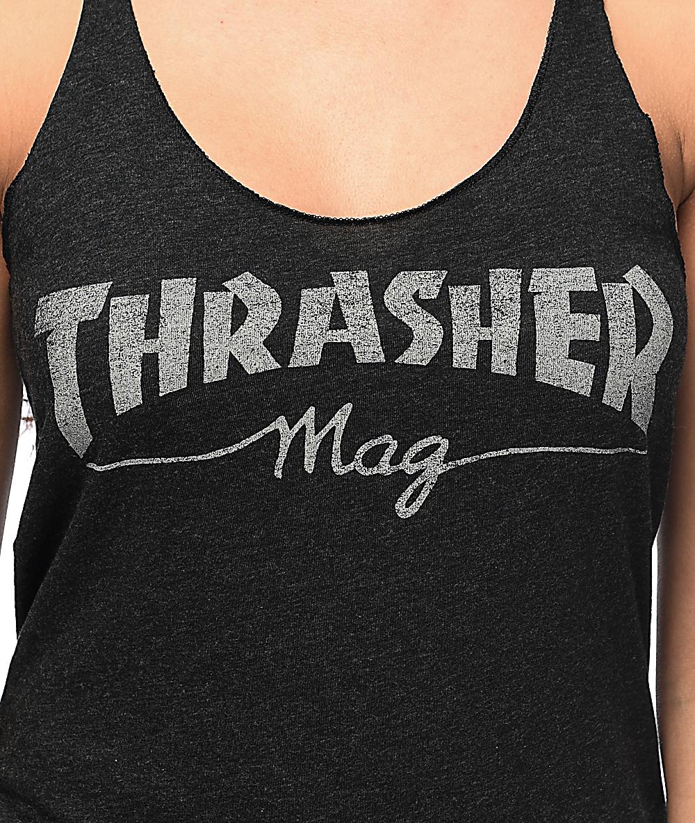 f7e41bd39 Thrasher Girl Mag Logo Black Tank Top
