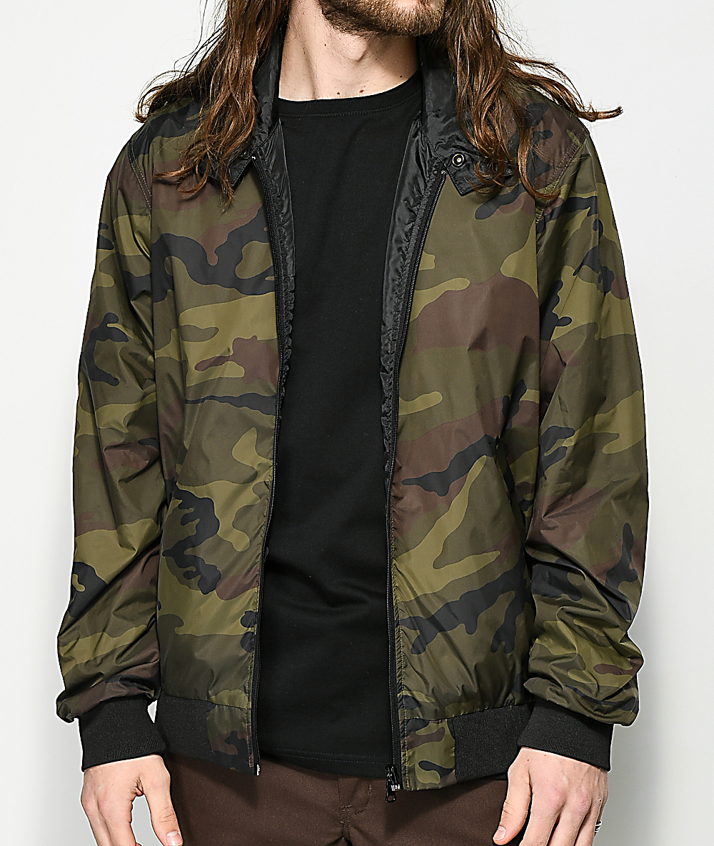 01b52b04b06d3 Thrasher Gonz Reversible Camo & Black Coaches Jacket | Zumiez