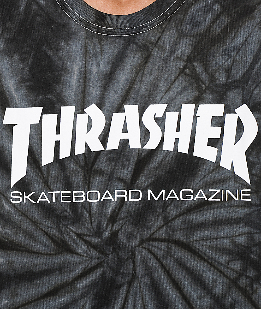 fc9e61baf7d9 Thrasher Skate Mag Spider Dye T-Shirt | Zumiez