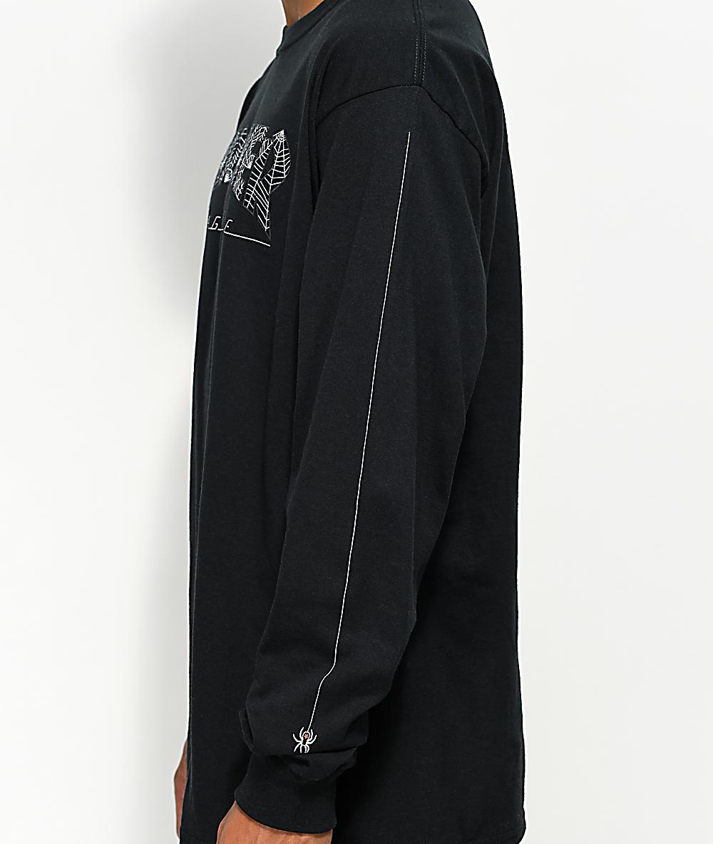 6c13a0d6a785 Thrasher Web Long Sleeve Black T-Shirt   Zumiez