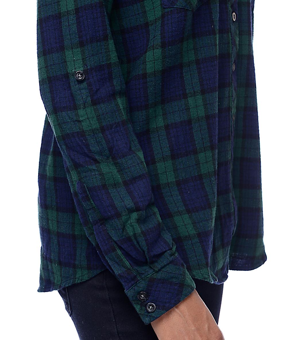 daf89a41f6d Thread & Supply Odessa Green & Navy Plaid Shirt
