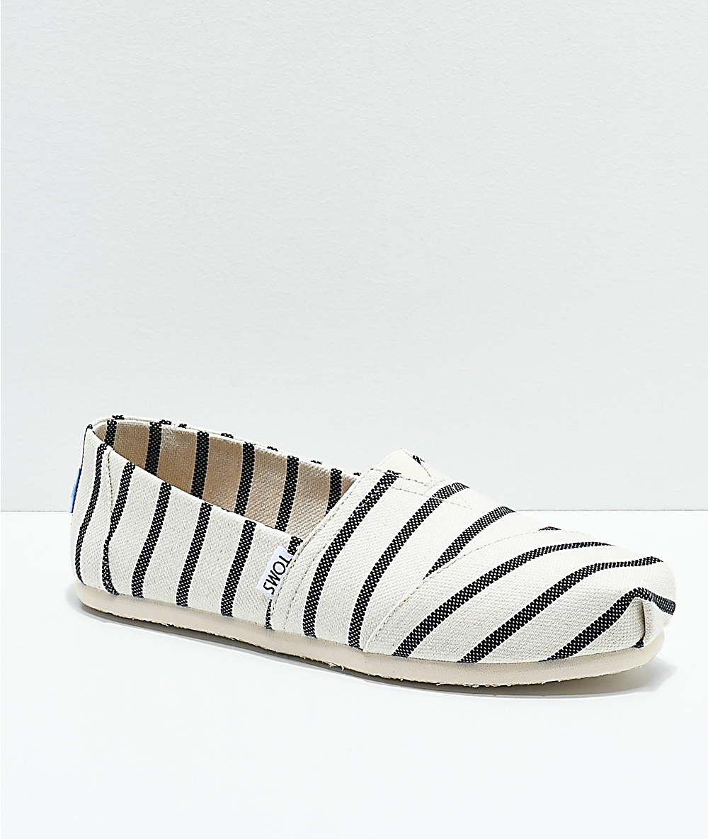 Toms Classic Venice Navy Riviera Striped Whiteamp; Shoes v80wNnOm