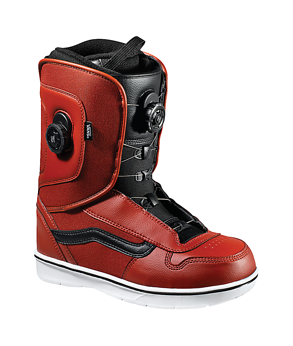 Vans Aura Red Double BOA Snowboard Boots