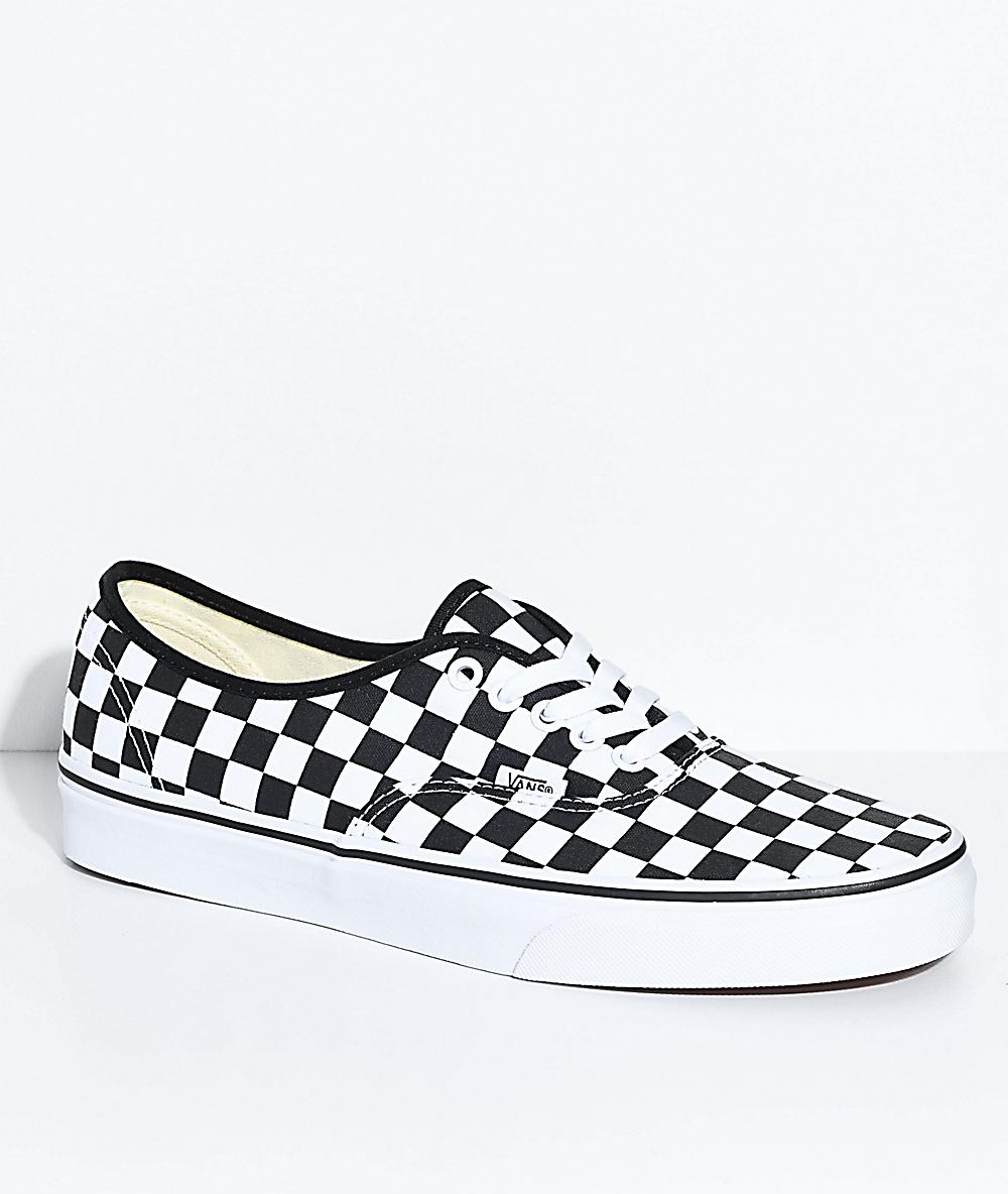white checkered vans men