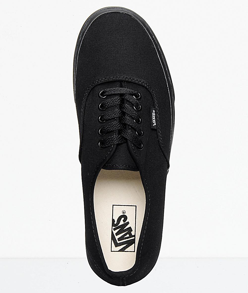 fec4f4ecbe212 Vans Authentic Black Canvas Skate Shoes
