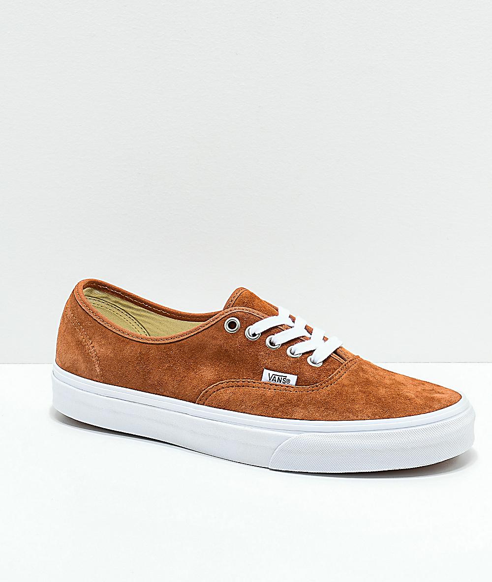5db5ab2ba982a Vans Authentic Brown Pig Suede Skate Shoes