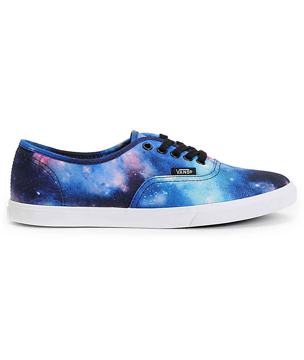 vans galaxy print shoes