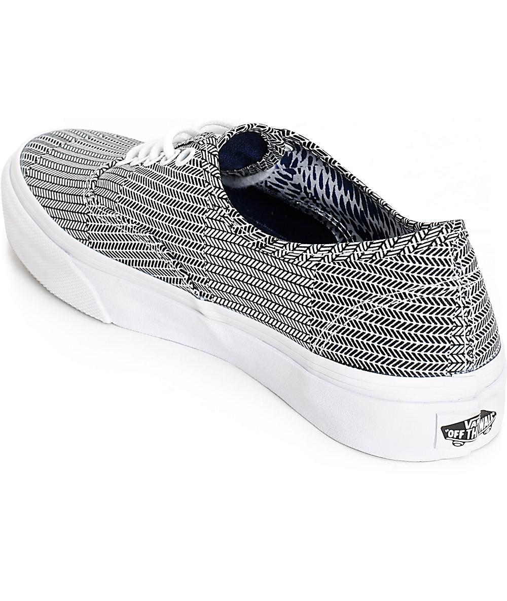 Vans Men's Authentic Slim Mixed Geo Sneaker
