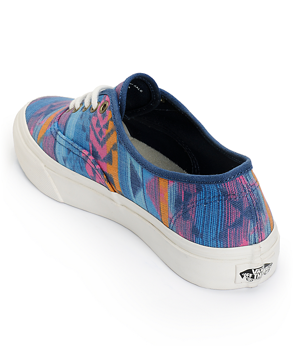 Authentic slim Fit Vans with Tribal Print