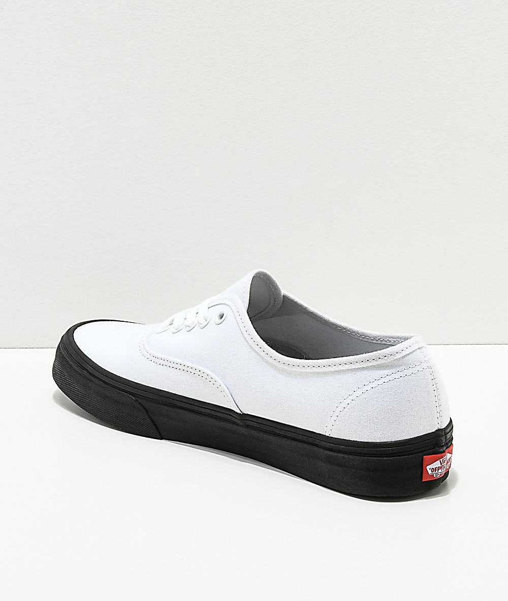 Vans Authentic White & Black Sole Skate Shoes