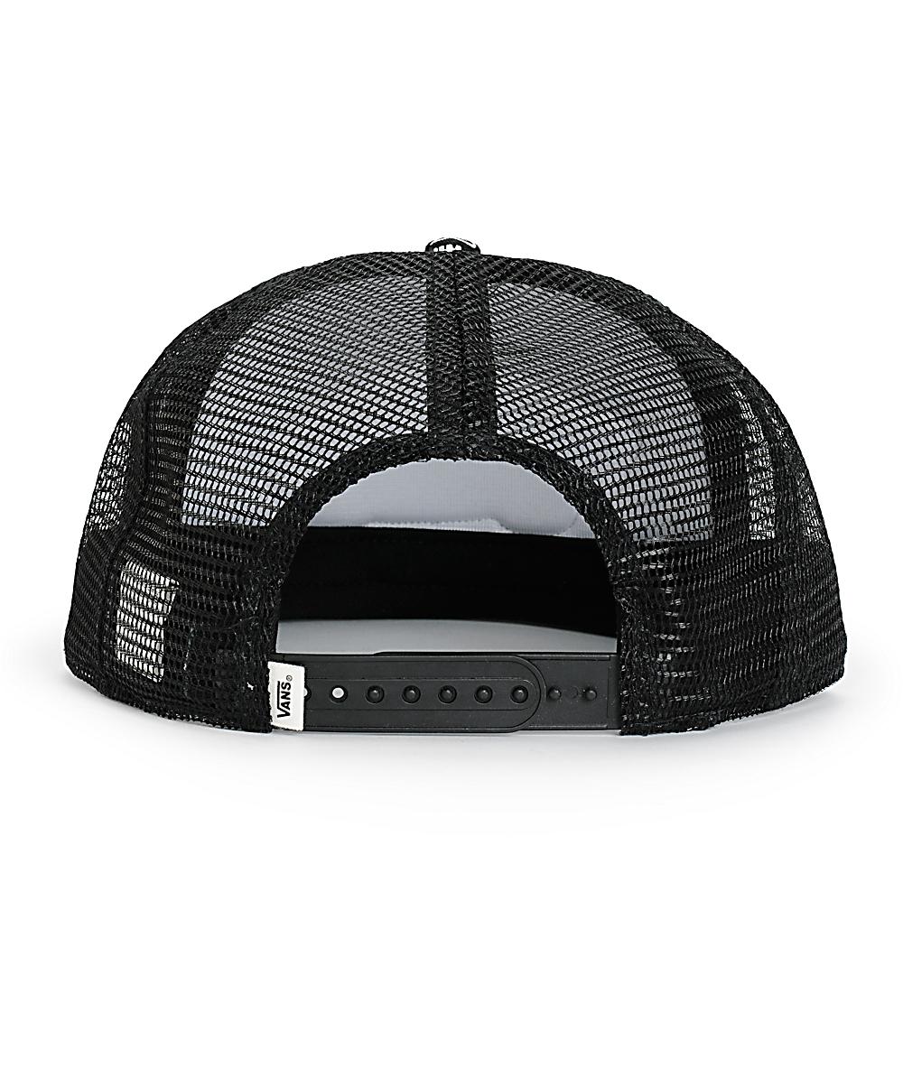 5e0e70e70a7 Vans Beach Girl Black Bandana Trucker Hat | Zumiez