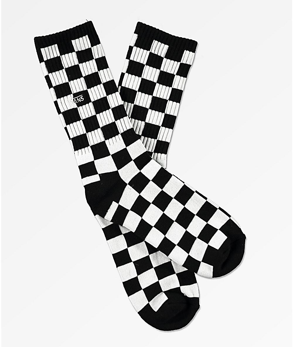 ec3a2fb8 Vans Boys Black & White Checkerboard Crew Socks