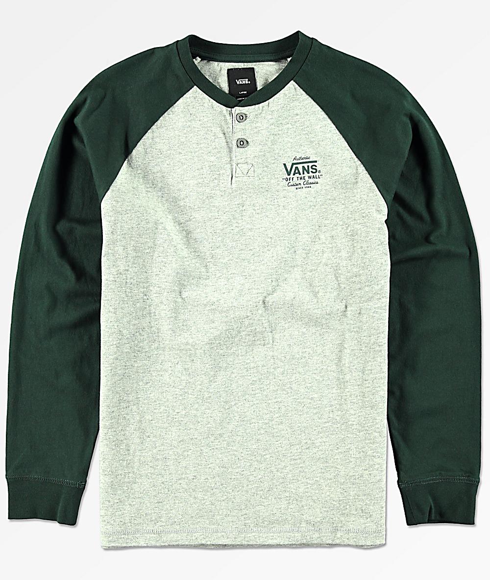 a7c777d280 Vans Boys Denton Cement Heather Long Sleeve T-Shirt