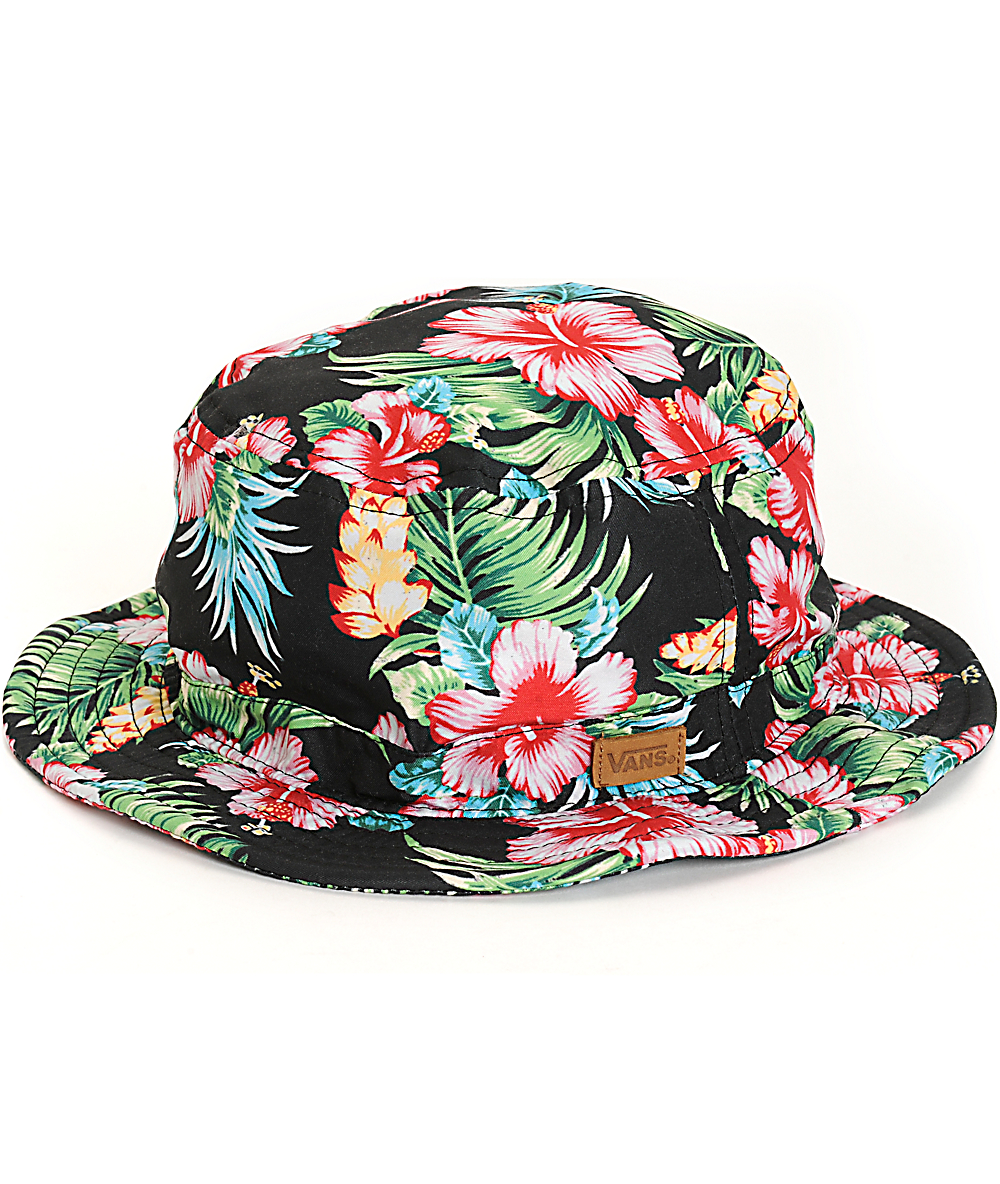 021902b2 Vans Brohola Hawaiian Floral Bucket Hat | Zumiez