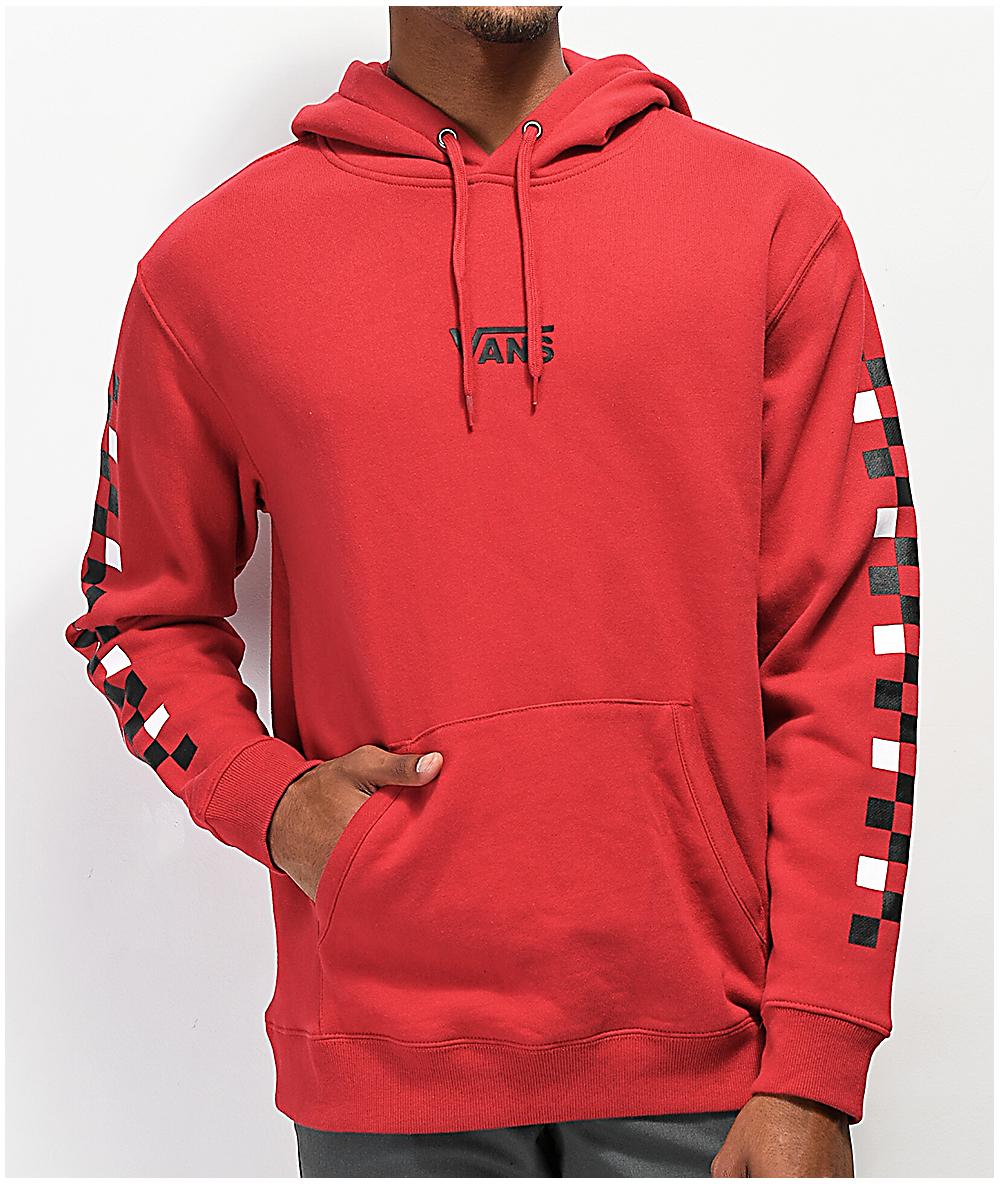 Vans Checkered Red Hoodie
