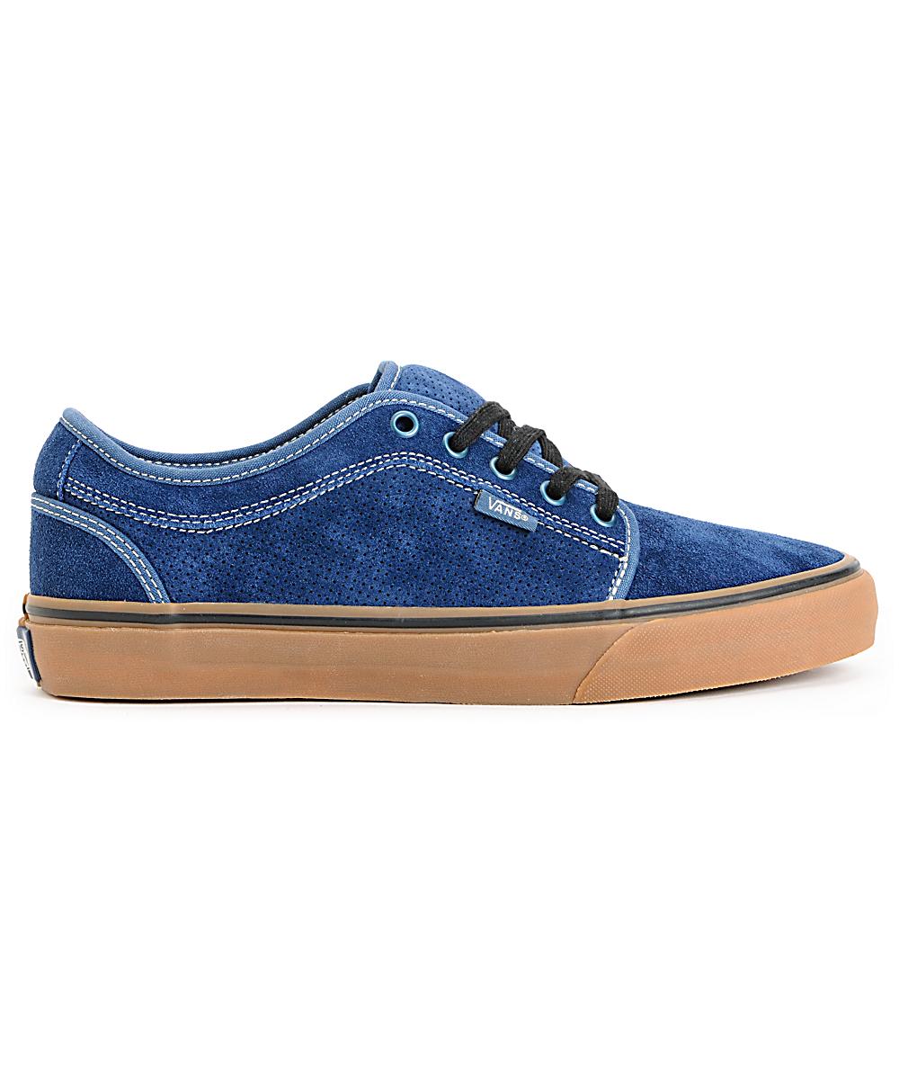 Vans Chukka Low Navy & Gum Skate Shoes