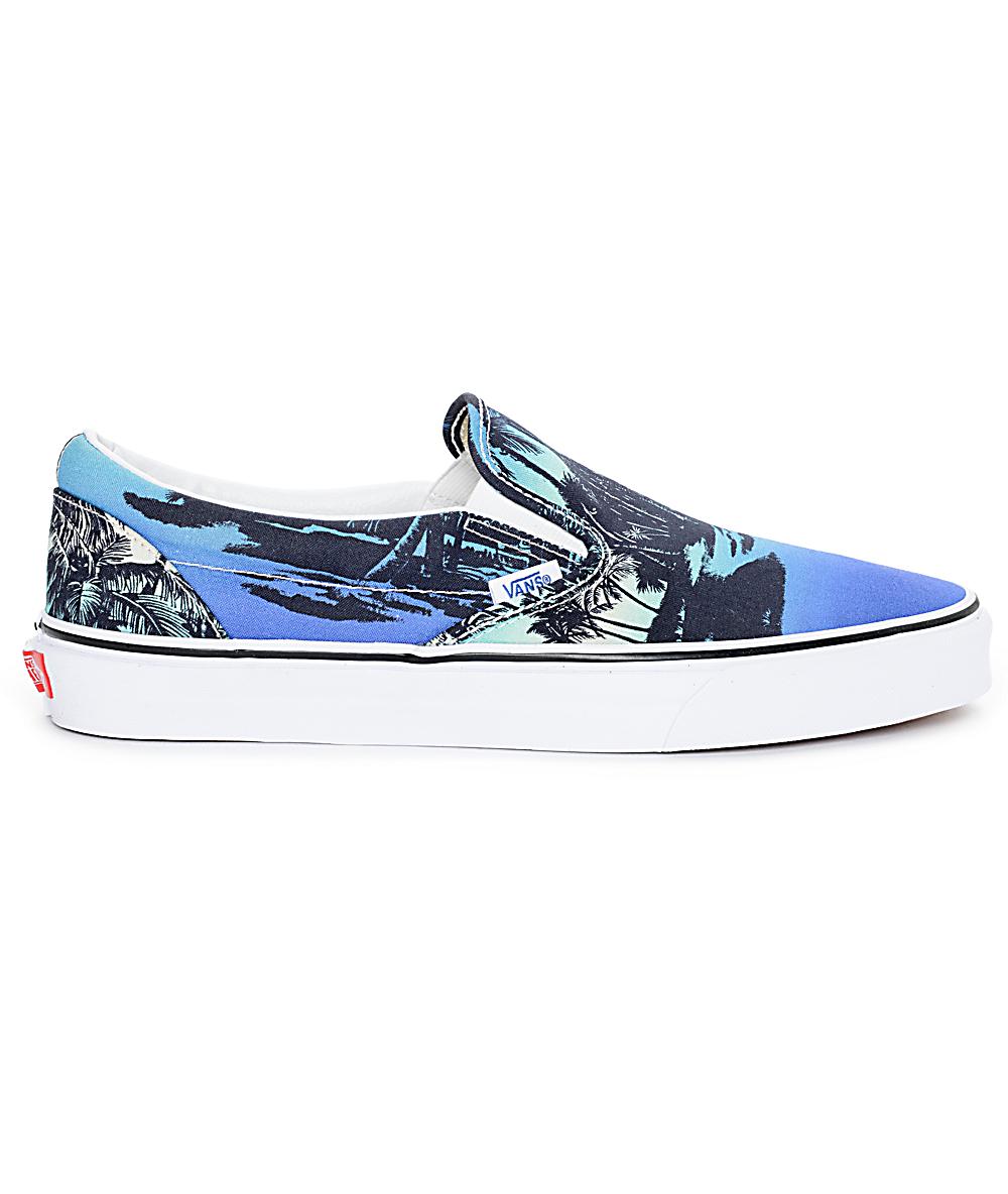 Vans Classic Van Doren Hoffman Blue Slip On Shoes