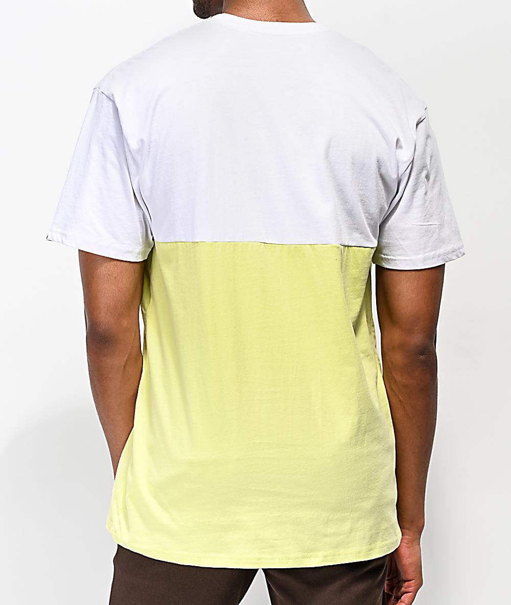 cf323db8 Vans Colorblock White & Lime T-Shirt