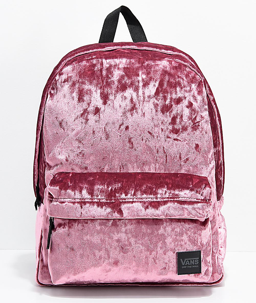 mochila vans escolar rosa