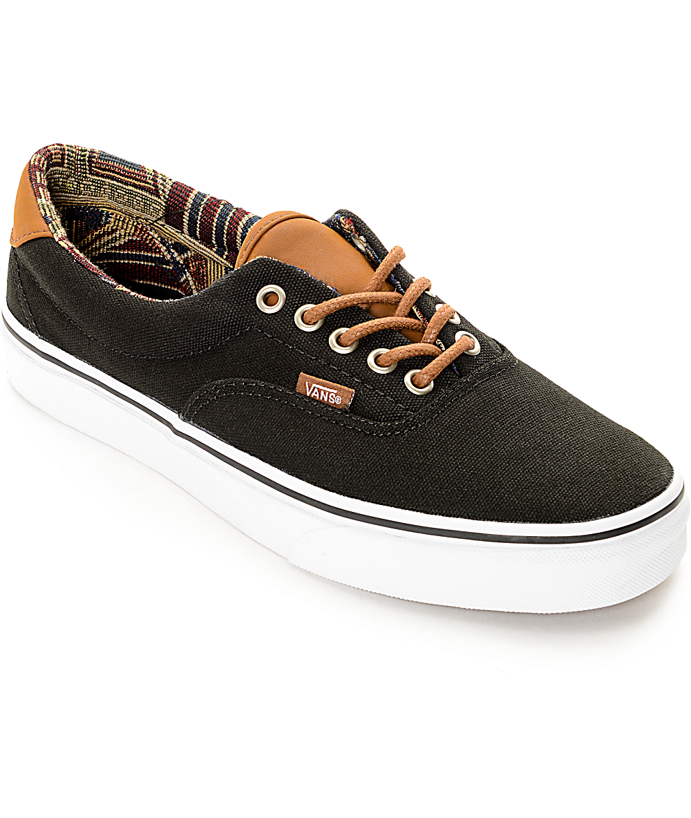 the latest f93d8 7d7ba Vans Era 59 CL Black Geo Weave Skate Shoes
