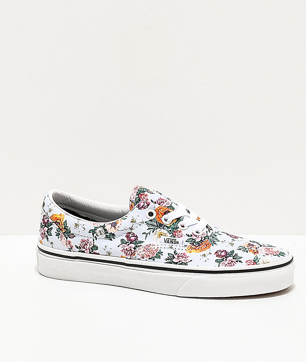 flower vans white