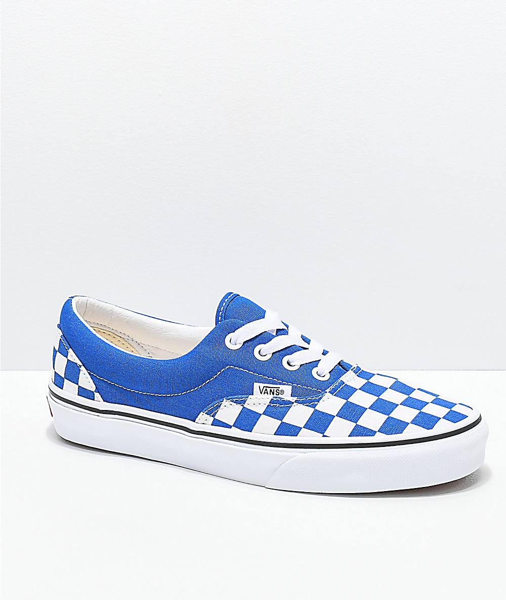 blue and white checkerboard vans Limit