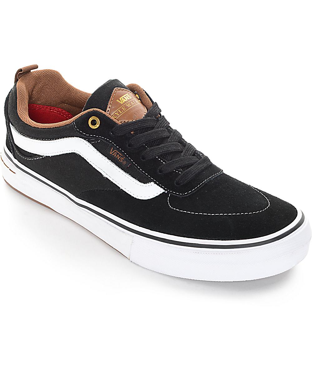 Vans Kyle Walker Pro Black and Gum Skate Shoes