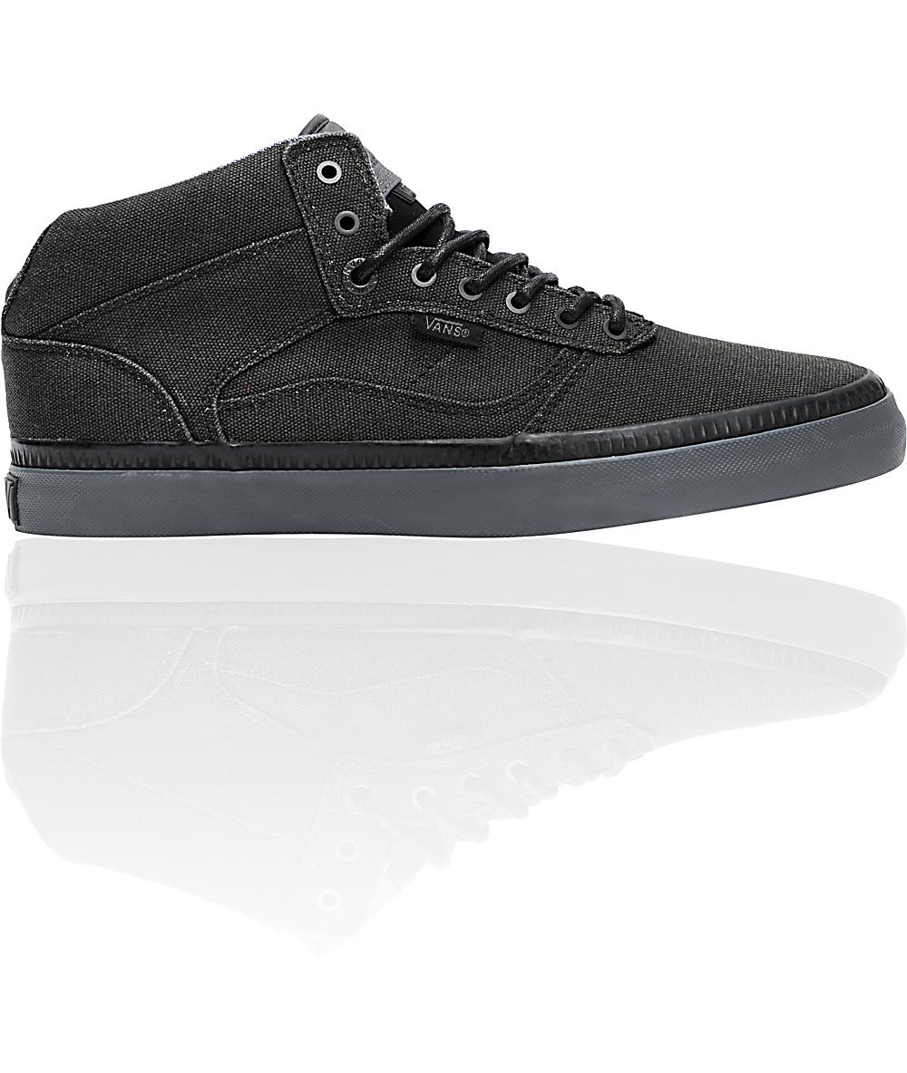 c6b65dd5d448e Vans OTW Bedford Black & Pewter Washed Canvas Skate Shoes | Zumiez