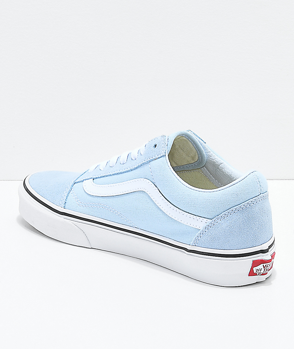 c2178668 Vans Old Skool Baby Blue & True White Shoes