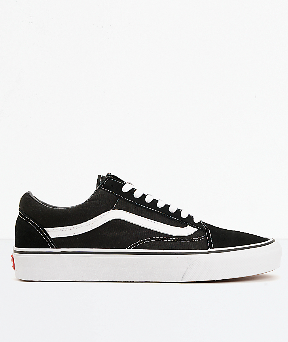Vans Old Skool Black Logo White Skate Shoes | Tênis para