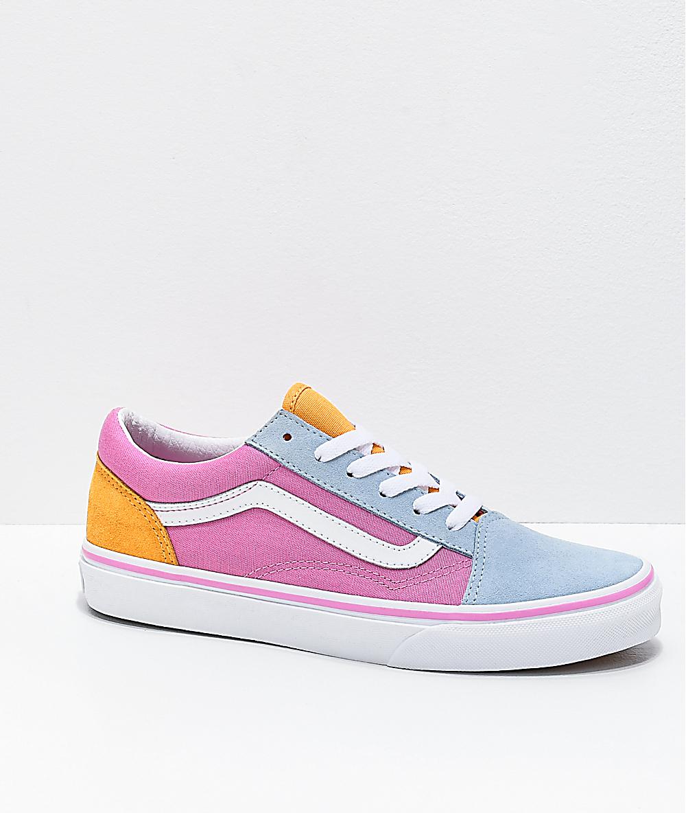 vans old skool pale pink