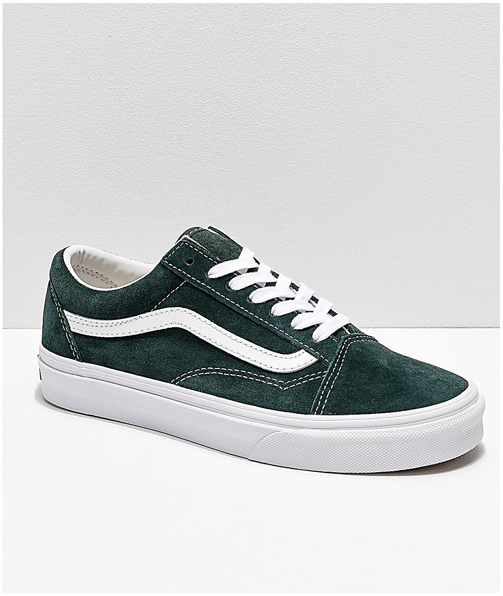 vans old skool green suede - OFF65