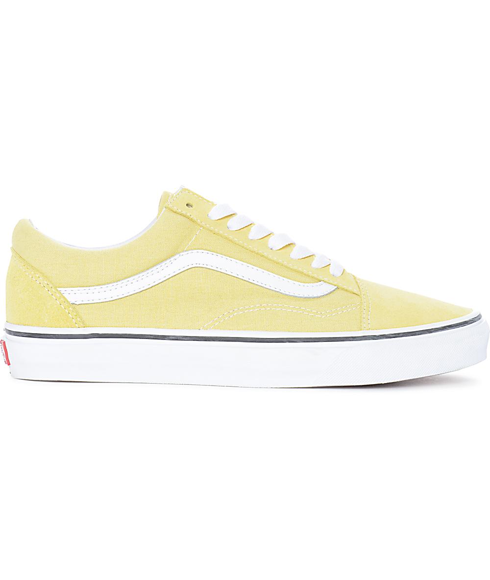 Get - vans old skool light yellow - OFF