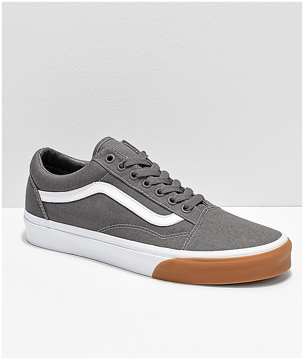 chaussures vans gum bumper old skool noir