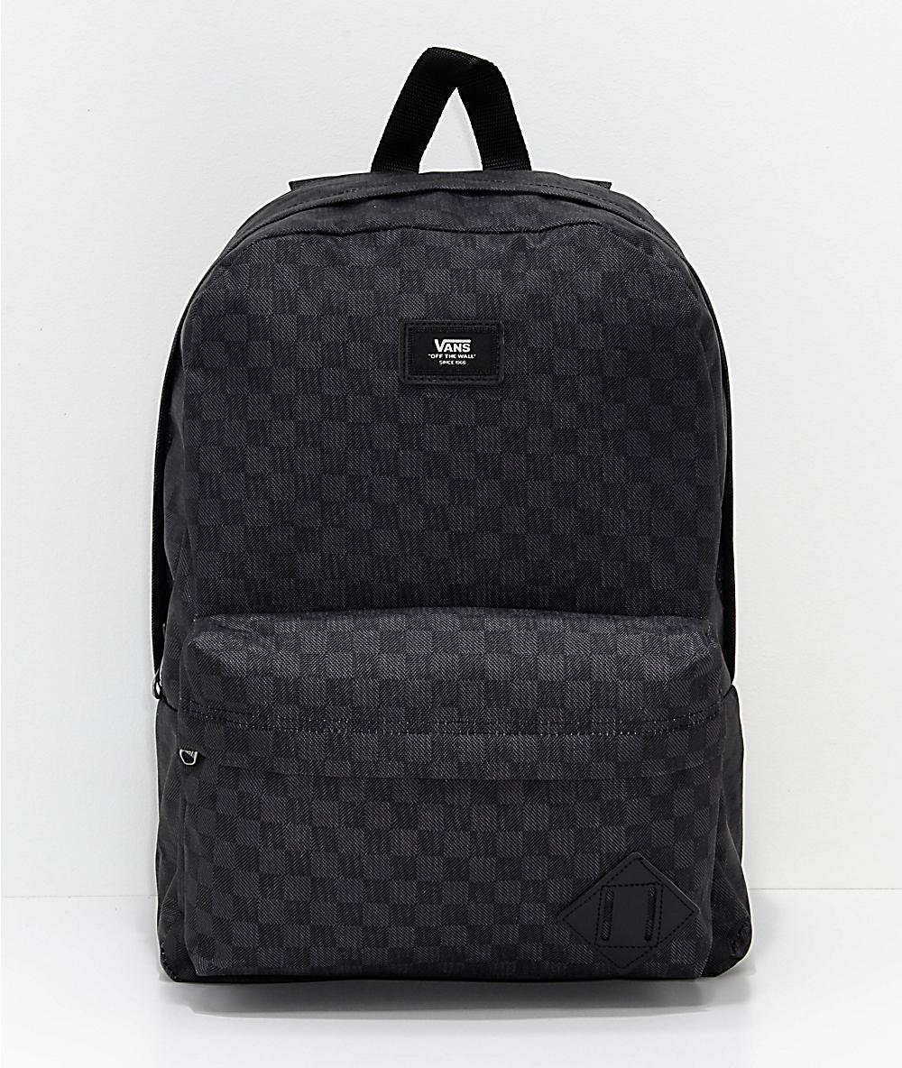 great look classic style of 2019 Good Prices Vans Old Skool II Black & Charcoal Backpack