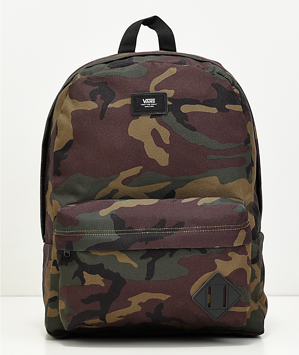 192d2f0880ffa Vans Old Skool II Camo & Black Backpack | Zumiez