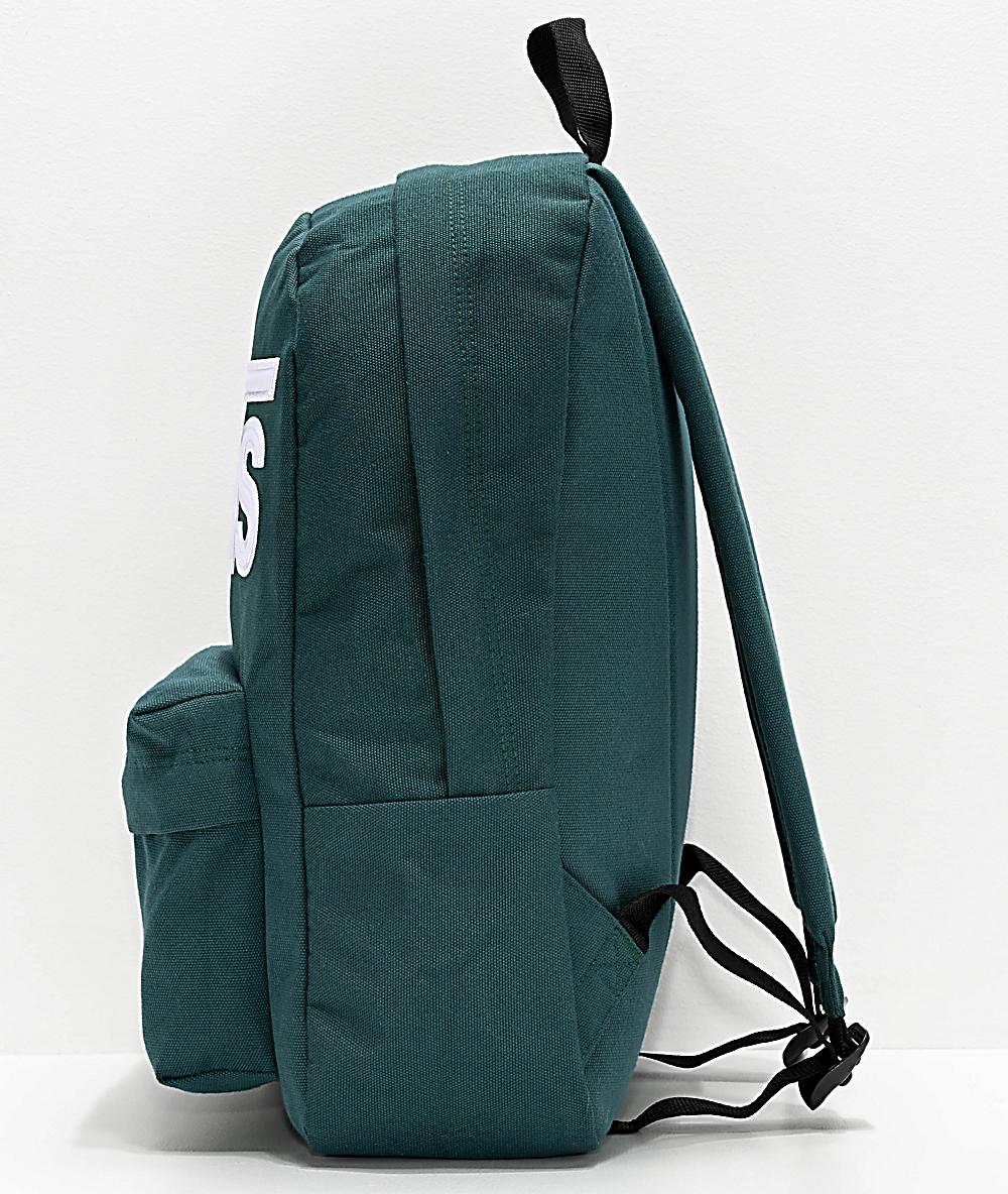 mochila vans verde oscuro