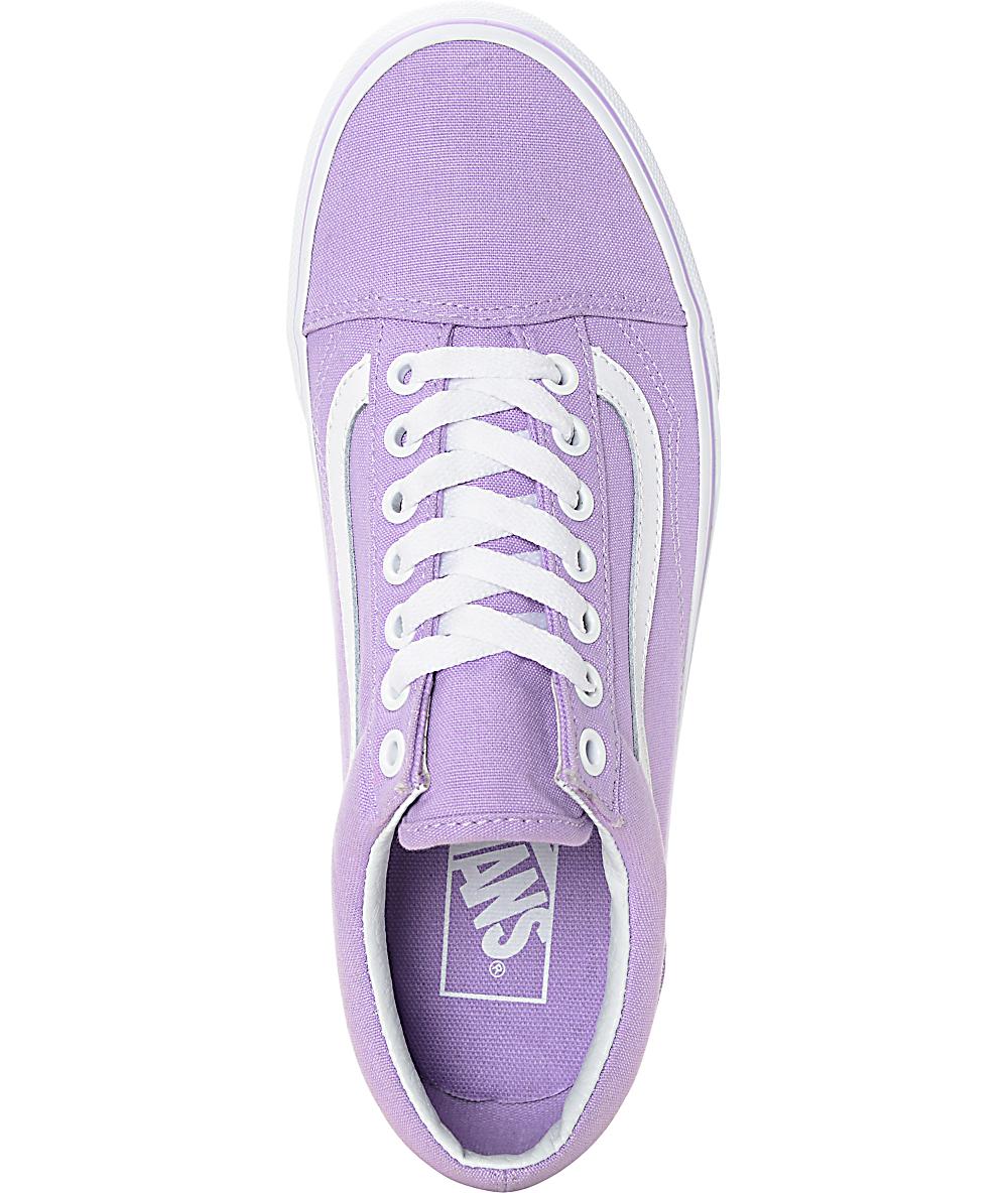2575878dde643 Vans Old Skool Lavender & White Canvas Shoes | Zumiez
