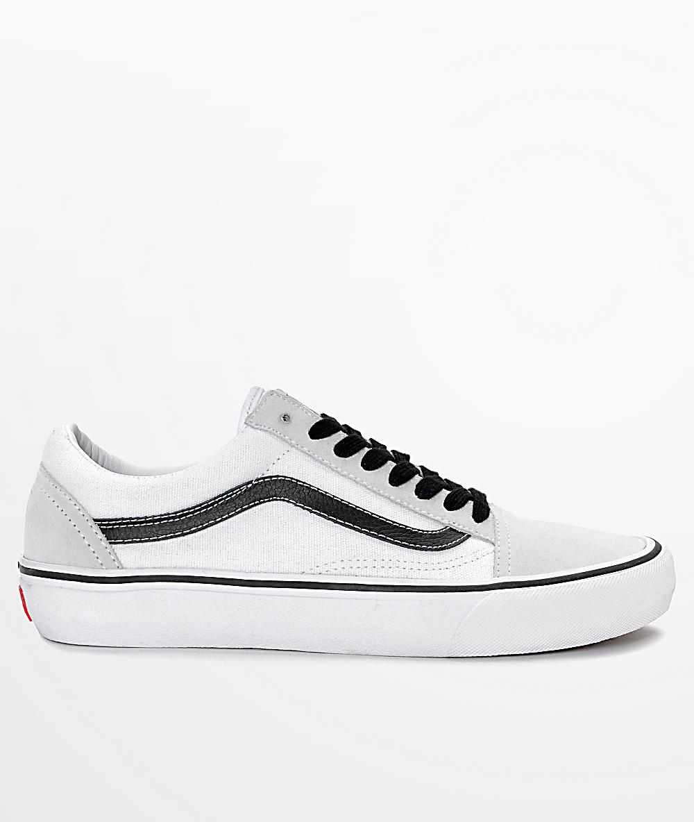 Vans Old Skool Pro 50th Anniversary White & Black Skate Shoes