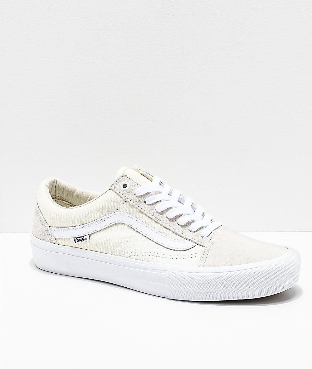 b1fa98ed58 Vans Old Skool Pro White Skate Shoes | Zumiez