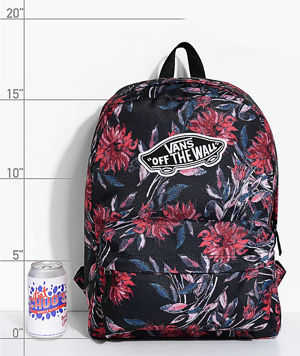 mochilas vans con flores