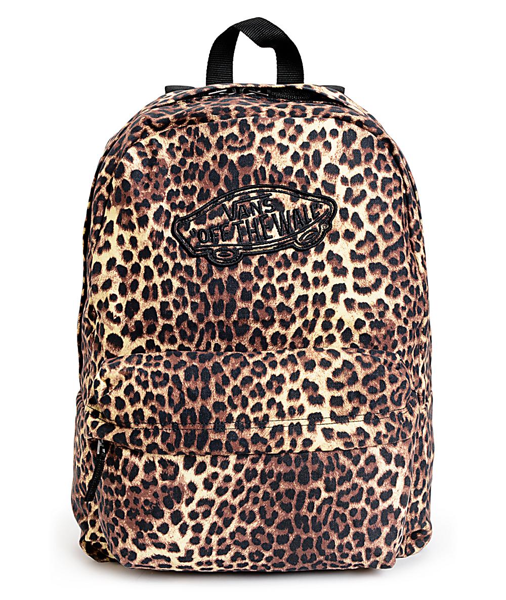 51862914ce54 Vans Realm Leopard Print Backpack   Zumiez