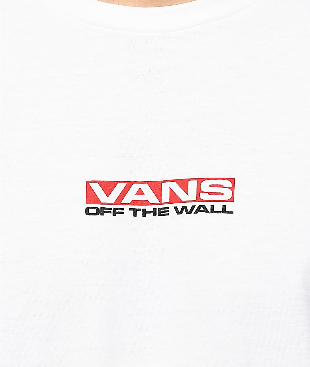35c9577a78 Vans Side Waze Long Sleeve White T-Shirt